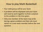 how to play math basketball