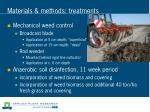 materials methods treatments