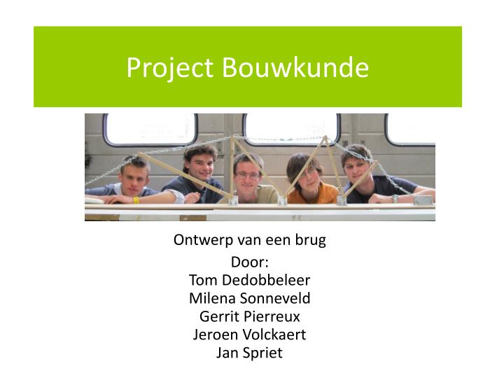 project bouwkunde n.