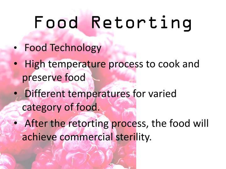 Food retorting