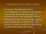 homeopatiens opprinnelse