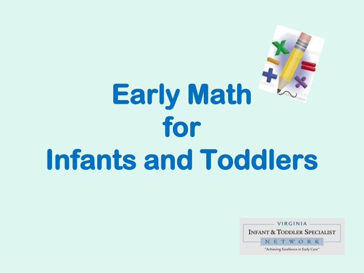 early math for infants and toddlers