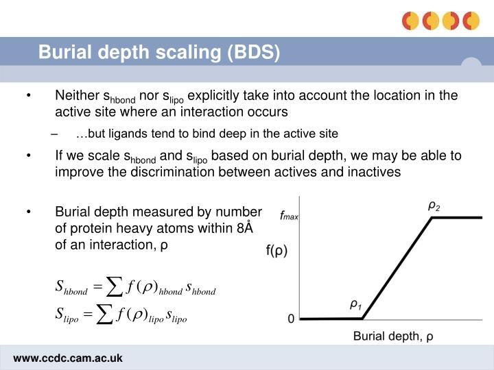 Burial depth scaling (BDS)