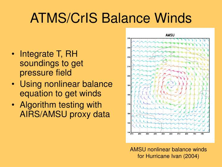 ATMS/CrIS Balance Winds
