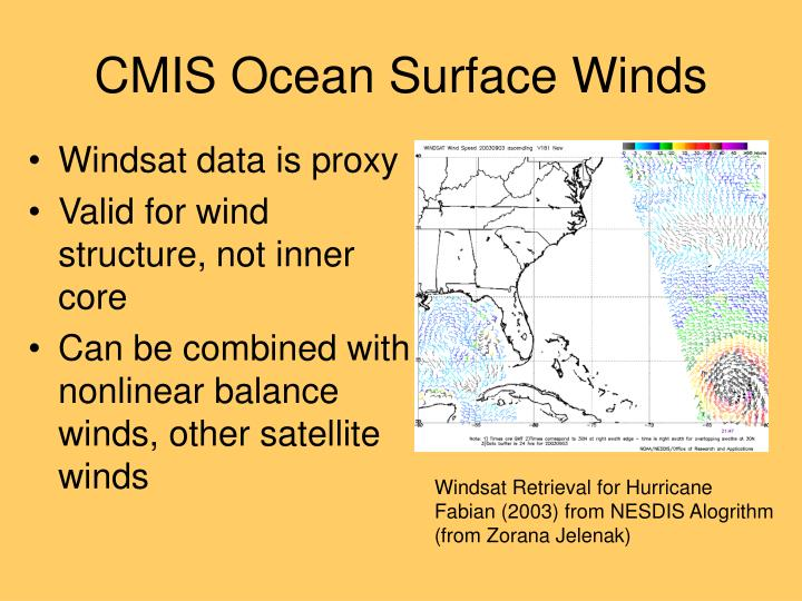 CMIS Ocean Surface Winds