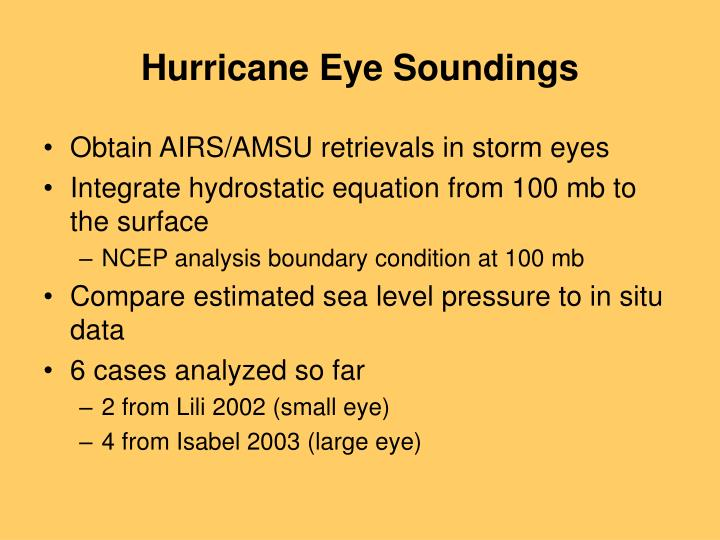 Hurricane Eye Soundings