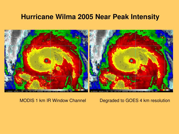 Hurricane Wilma 2005 Near Peak Intensity