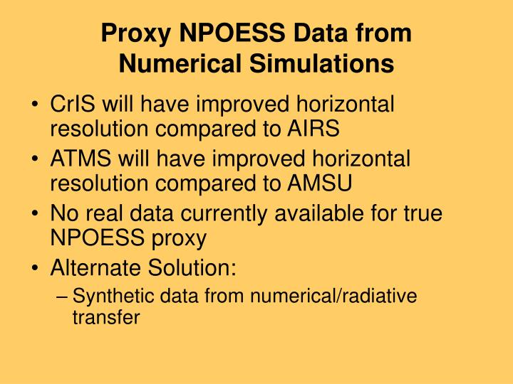 Proxy NPOESS Data from