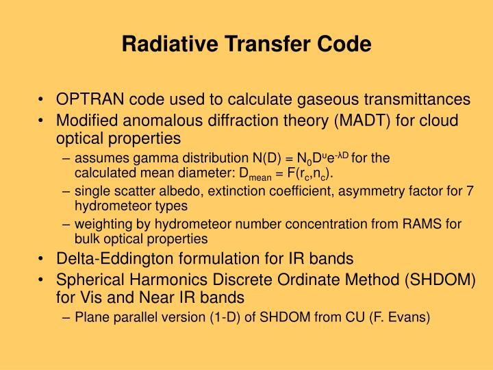 Radiative Transfer Code