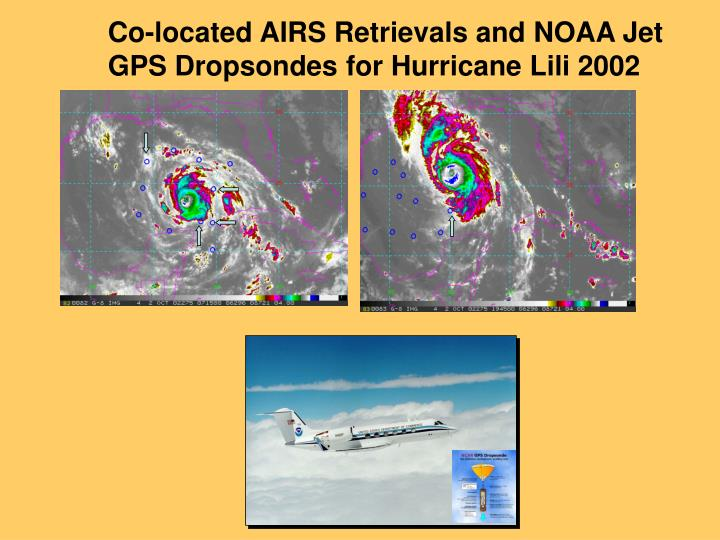 Co-located AIRS Retrievals and NOAA Jet