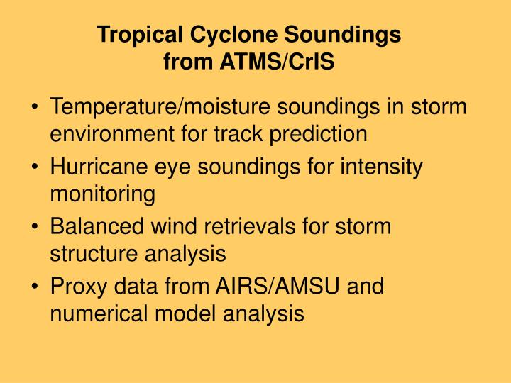 Tropical Cyclone Soundings