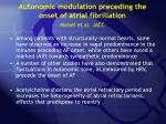 autonomic modulation preceding the onset of atrial fibrillation maisel et al jacc