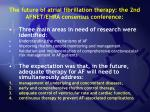 the future of atrial fibrillation therapy the 2nd afnet ehra consensus conference