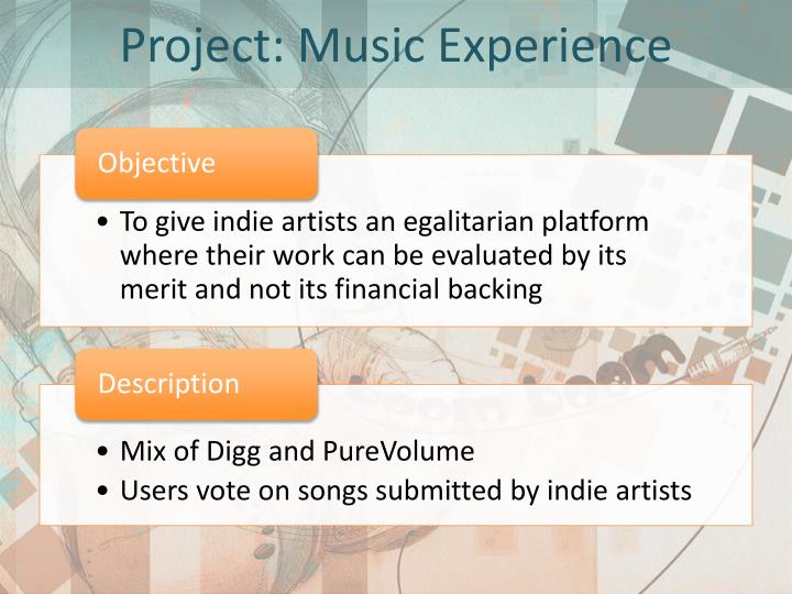 Project music experience1
