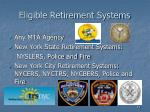eligible retirement systems