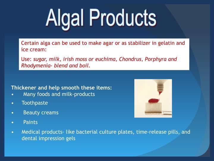 Algal Products