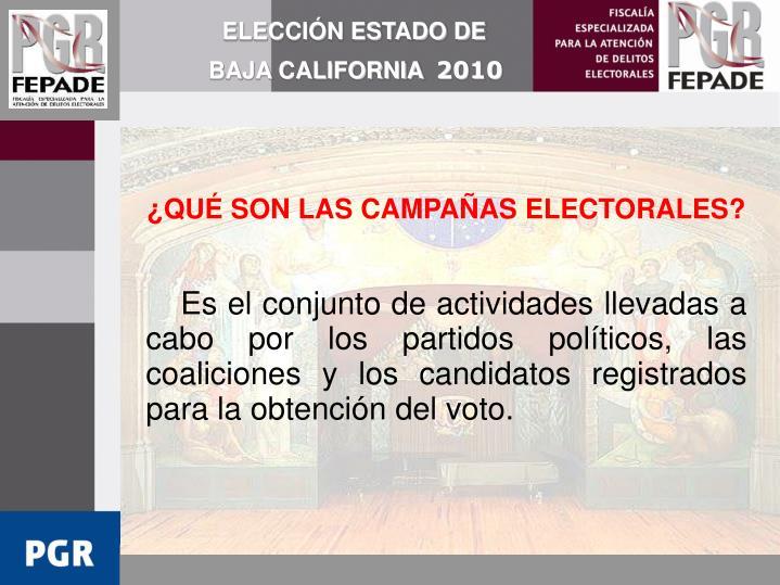ELECCIÓN ESTADO DE BAJA CALIFORNIA