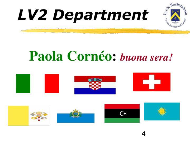 LV2 Department