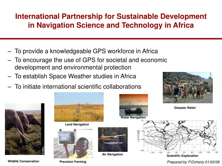 International Partnership for Sustainable Development in Navigation Science and Technology in Africa