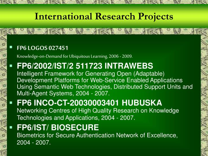 International Research Projects