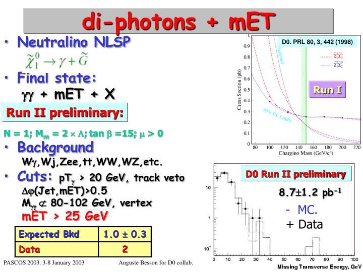 di-photons + mET