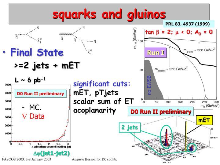 squarks and gluinos