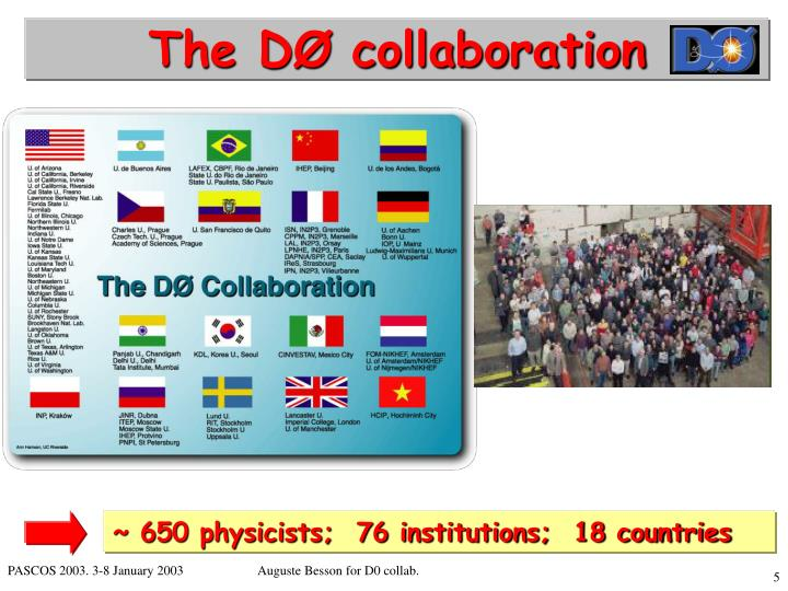The DØ collaboration