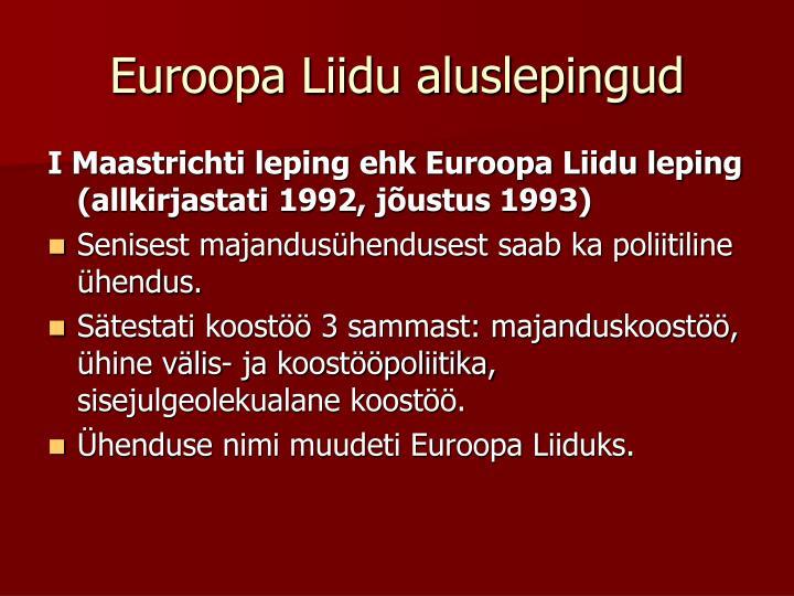 Euroopa Liidu aluslepingud