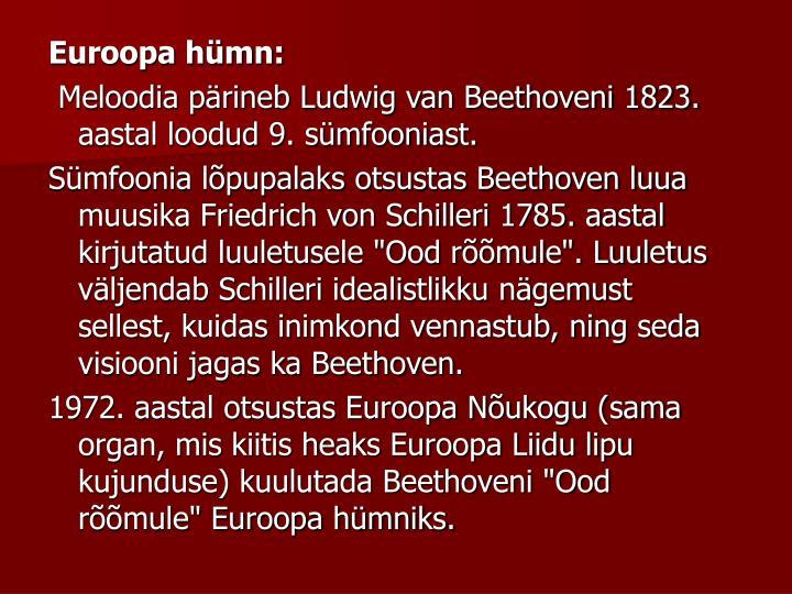 Euroopa hümn:
