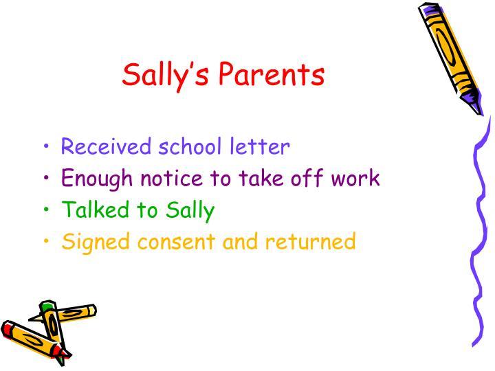 Sally's Parents