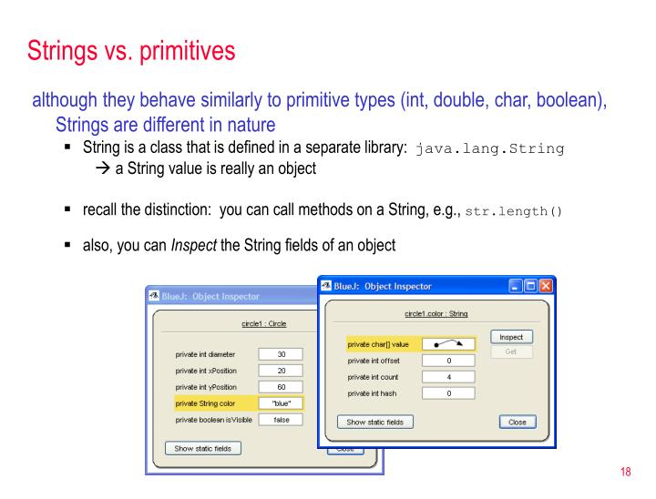 Strings vs. primitives