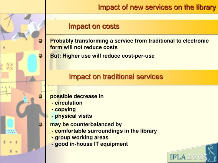 Impact of new services on the library