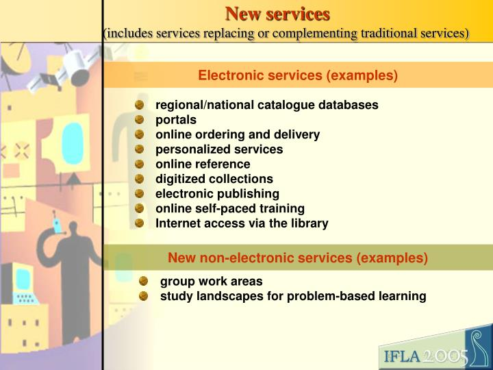 New services