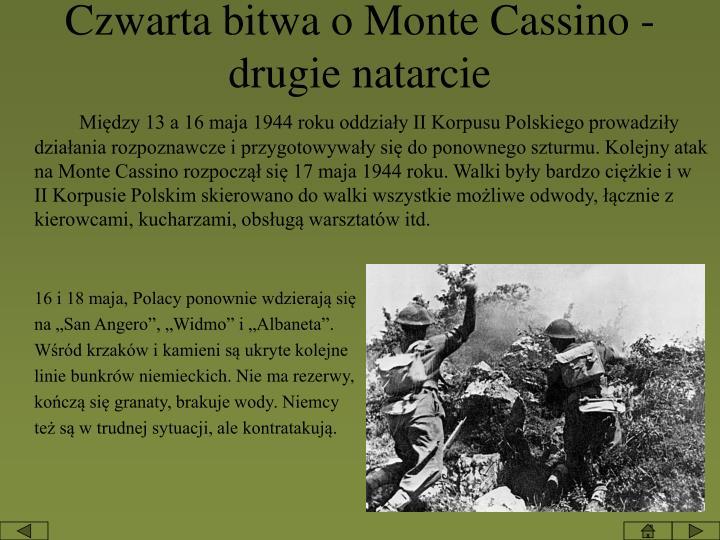 Czwarta bitwa o Monte Cassino - drugie natarcie