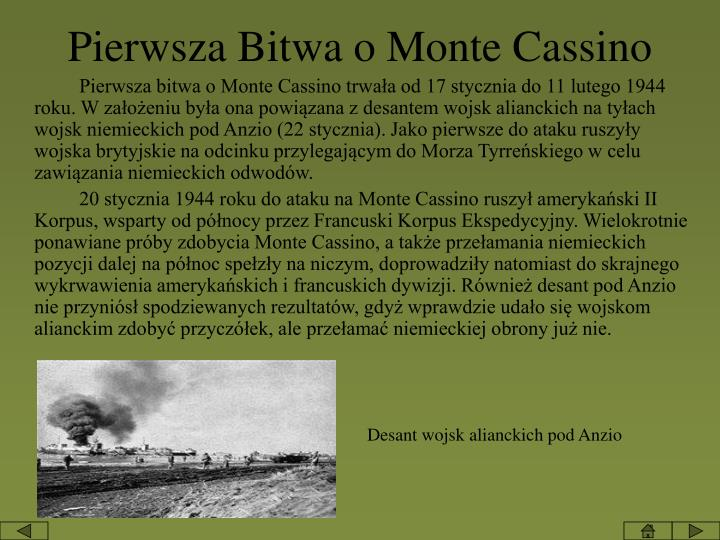 Pierwsza Bitwa o Monte Cassino