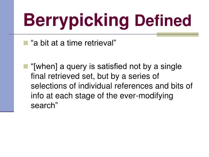 Berrypicking