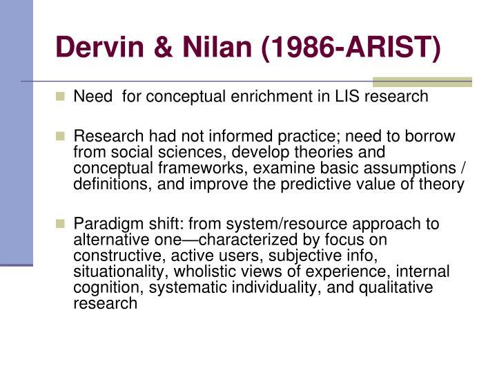 Dervin & Nilan (1986-ARIST)