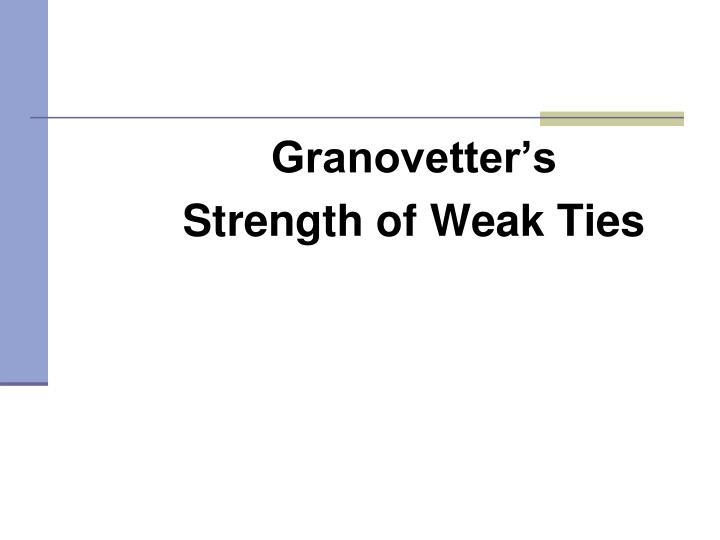 Granovetter's