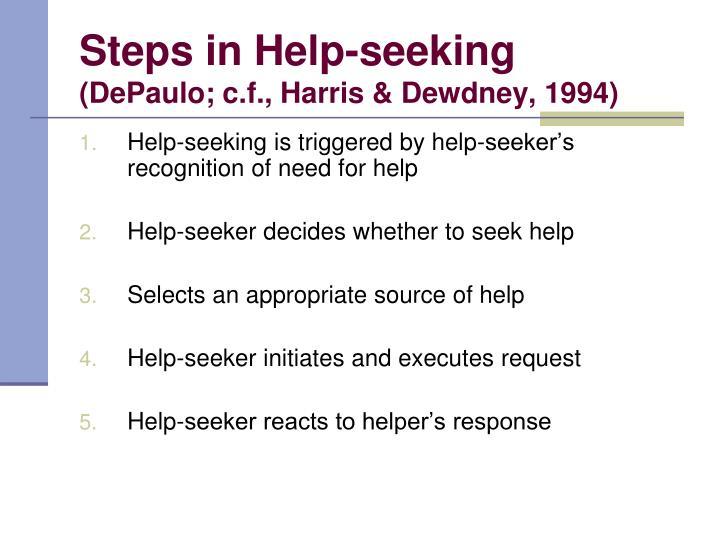 Steps in Help-seeking