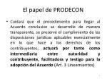 el papel de prodecon1