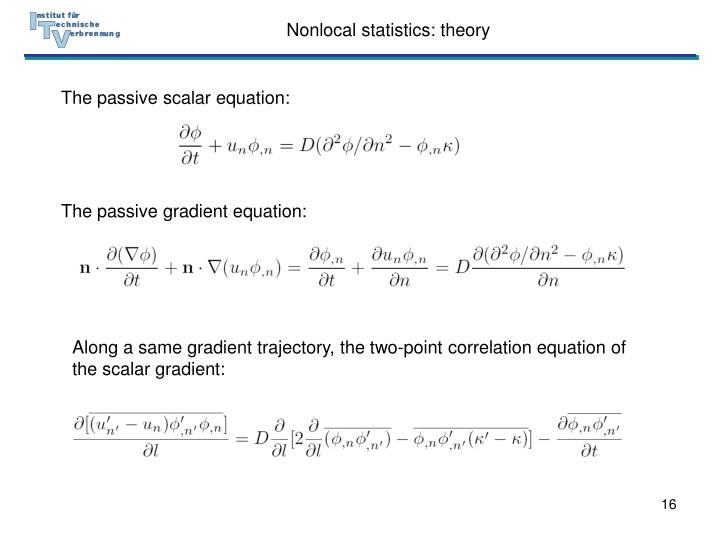 Nonlocal statistics: theory