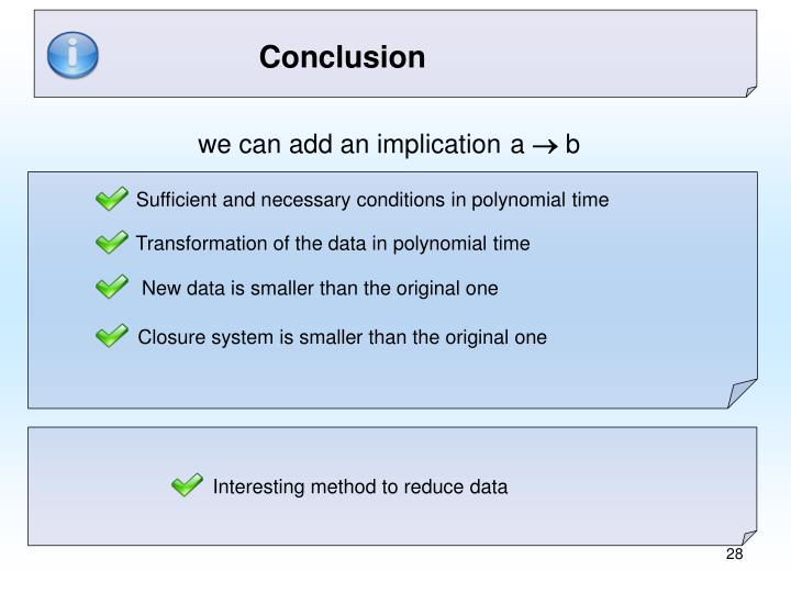 Sufficient and necessary conditions in polynomial time