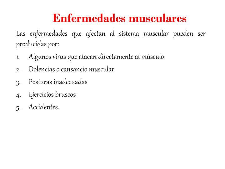 Enfermedades musculares