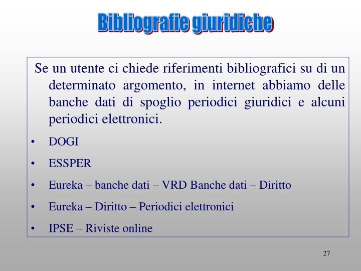 Bibliografie giuridiche