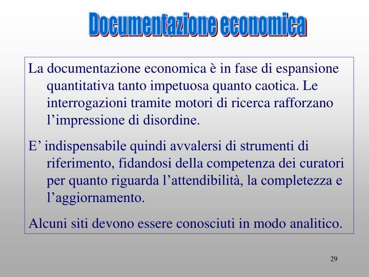 Documentazione economica