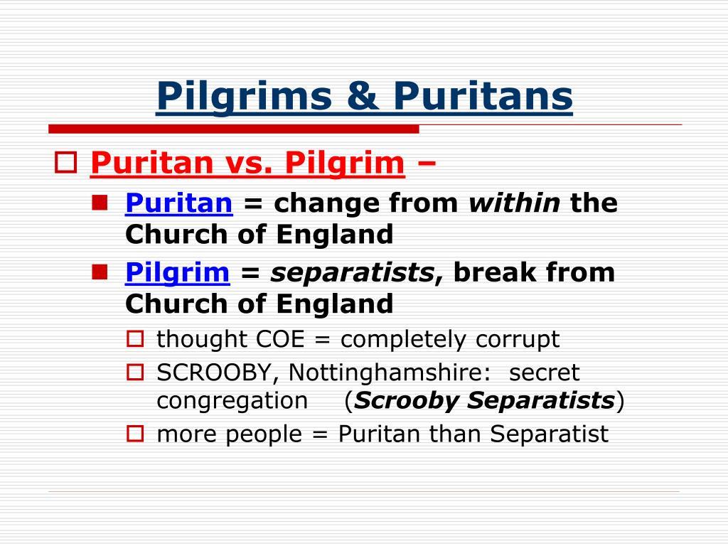 PPT - PILGRIMS PowerPoint Presentation - ID:4197791