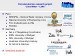 peruvian german research project lima water liwa