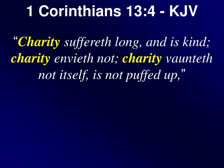 1 Corinthians 13:4 - KJV