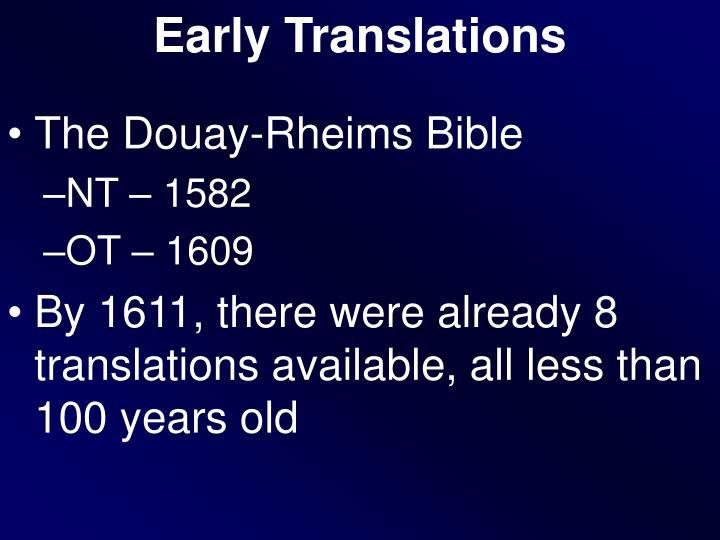 Early Translations