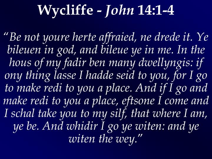Wycliffe -